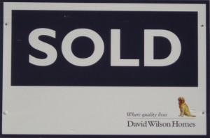 David Wilson Homes Sold Board