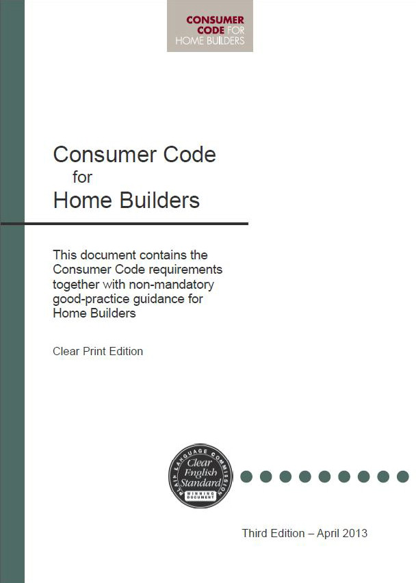 Consumer Code cover