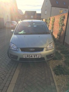 Parking on pavement and garden at Bovis