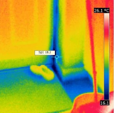 Air Leakage Testing Thermal Image