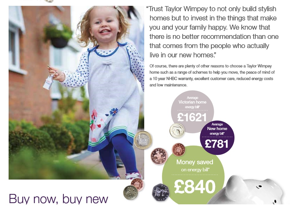 Radiator fell off at Taylor Wimpey brochure at Tiverton