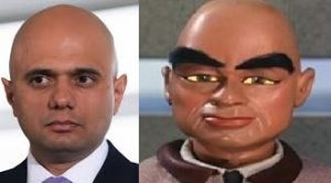 Sajid Javid the builders puppet