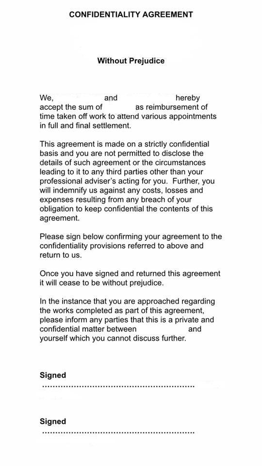A plc housebuilder's 'Gagging Order'