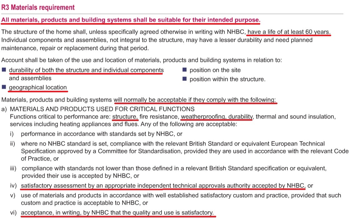 NHBC Technical Requirements - Chapter 2.1