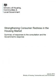 Consultation response - Redress in housing