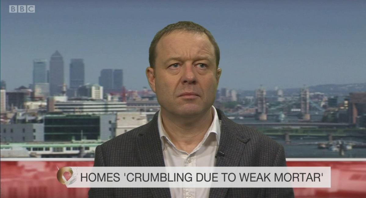 HBF Steve Turner grilled on national TV about weak mortar